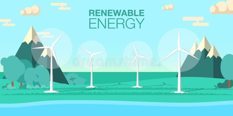 Vektorillustration der erneuerbaren Energie vektor abbildung