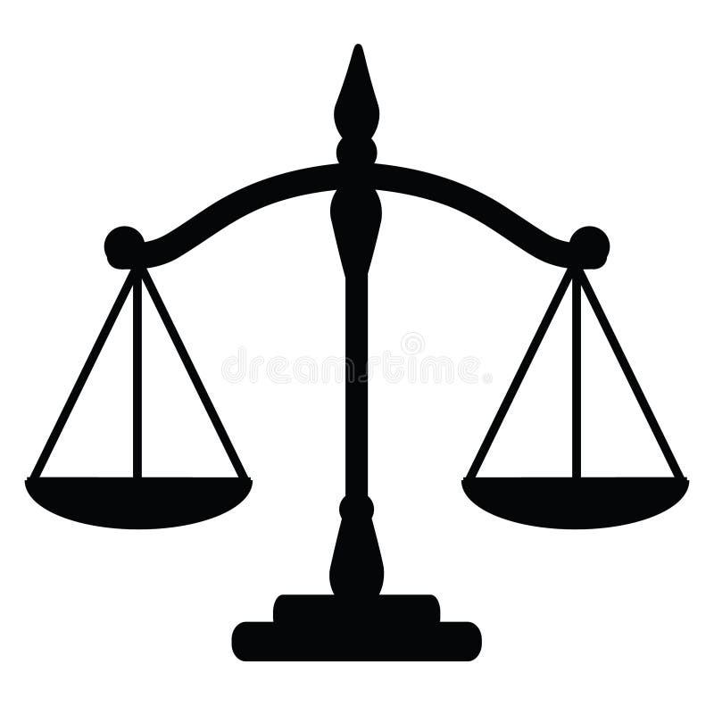 Gerechtigkeitsskalen lizenzfreie abbildung