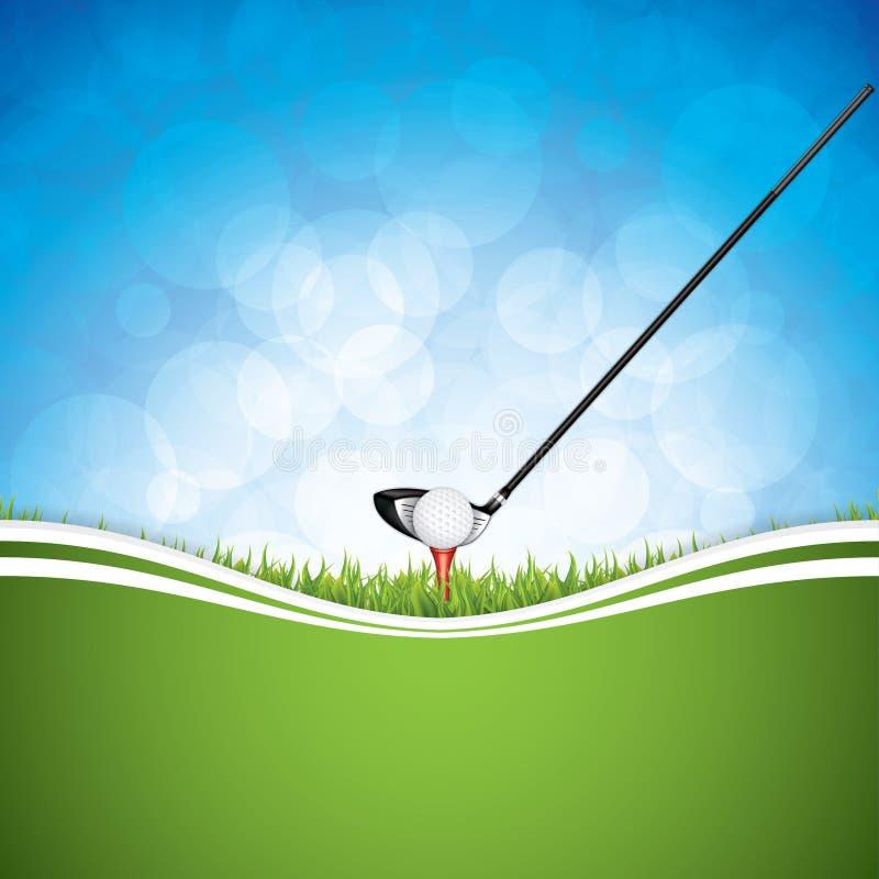 Vektorillustration der Golfbroschüre stock abbildung