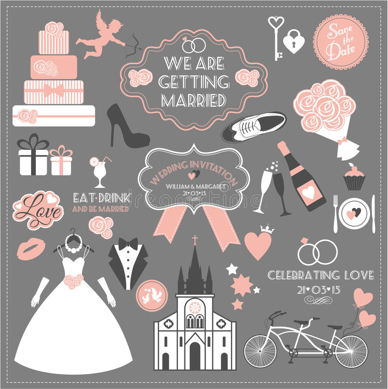 Vektorillustration der Hochzeit lizenzfreie abbildung