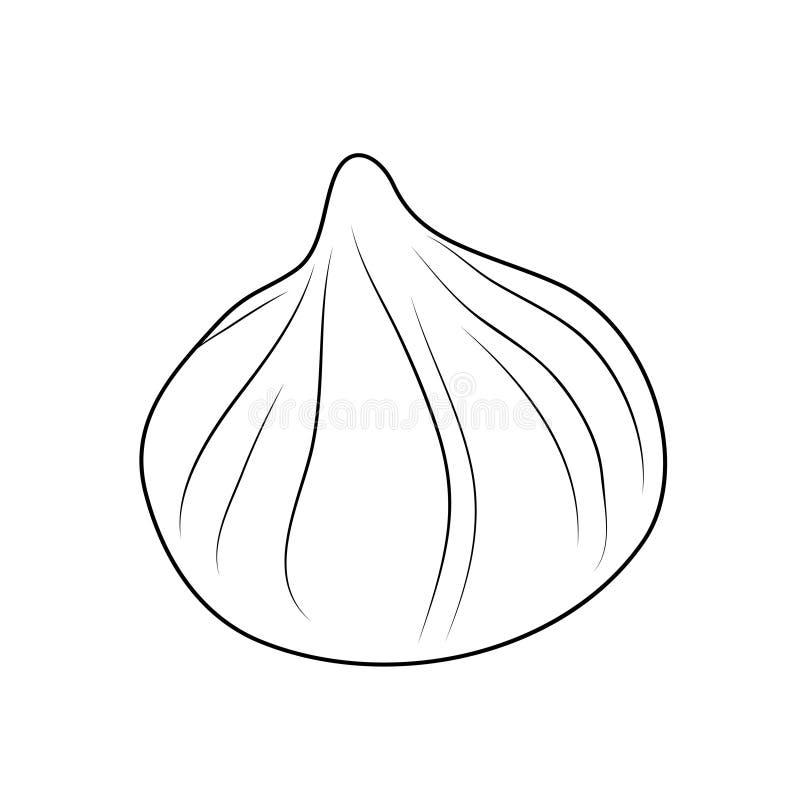 Vektorillustration der lokalisierten Meringe stock abbildung