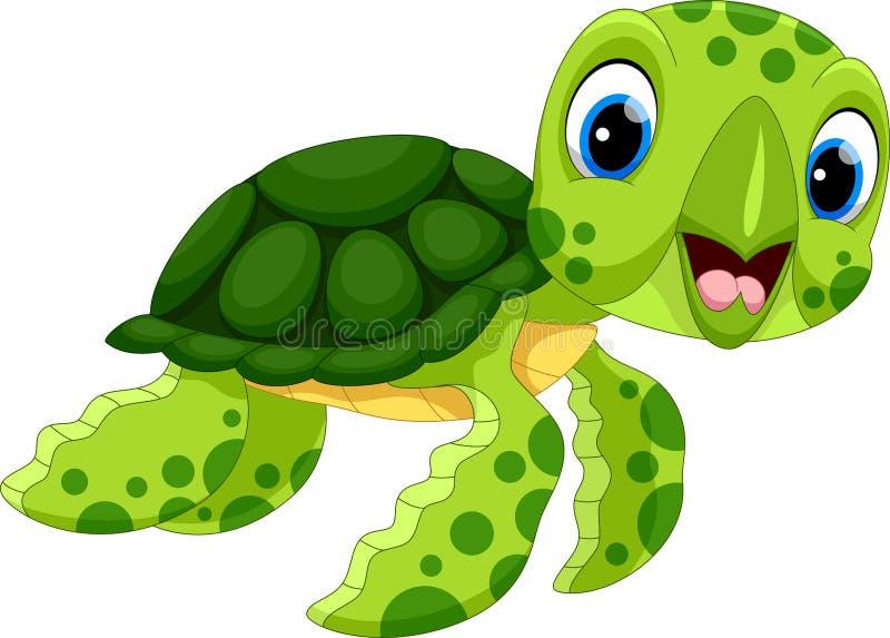 Vektorillustration der netten Schildkrötenkarikatur vektor abbildung