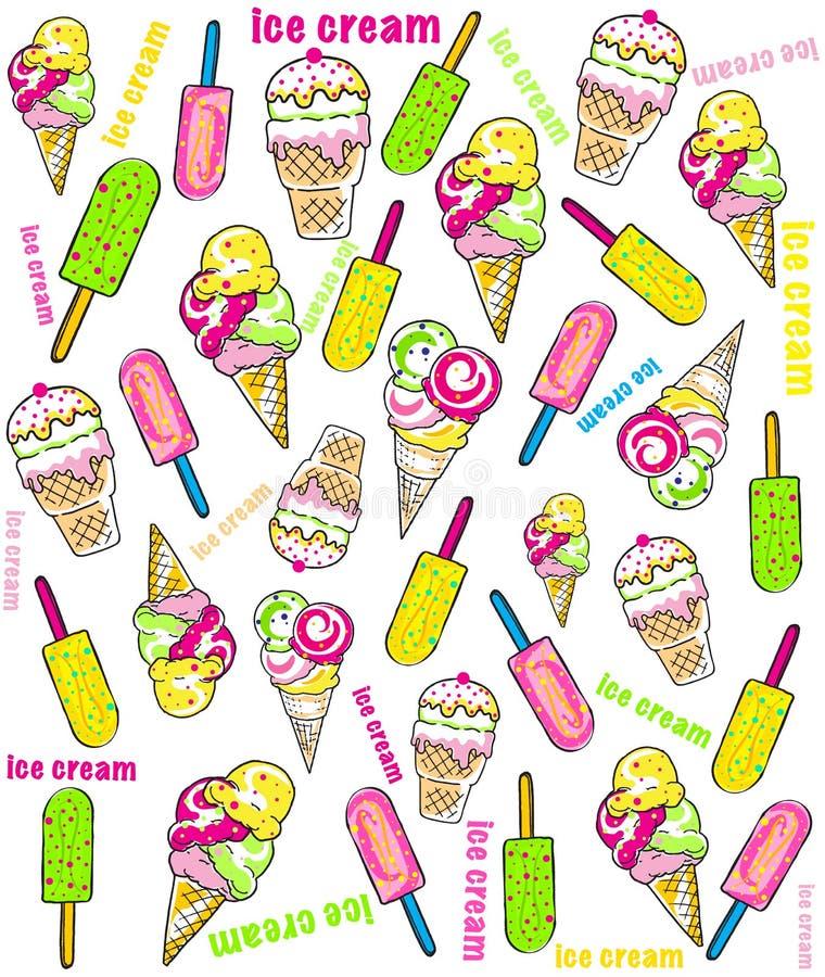 Vektorillustration der Sammlung Eiscreme vektor abbildung