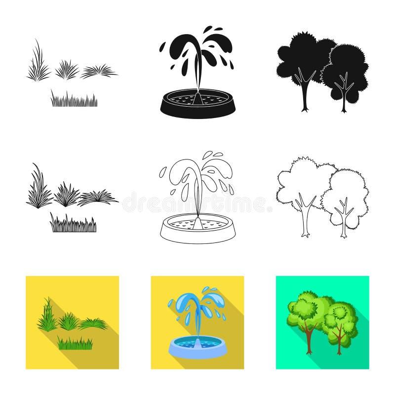 Vektorillustration der st?dtischer und Stra?enikone Stellen Sie von der st?dtischer und Vektorillustration des Entspannung auf La vektor abbildung
