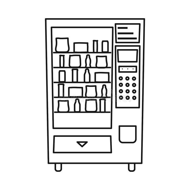 Vektorillustration des Automat- und Maschinensymbols Sammlung des Automat- und Knopfaktiensymbols für Netz lizenzfreie abbildung