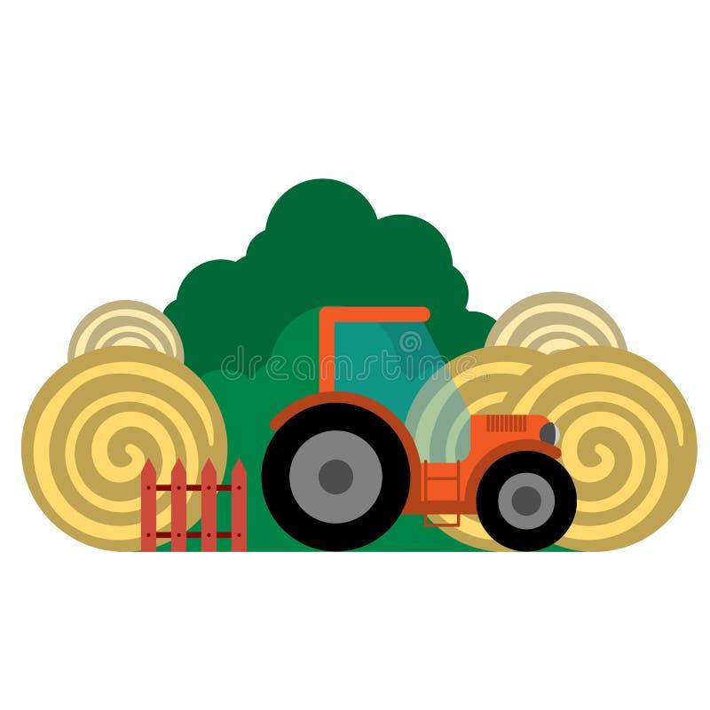 Vektorillustration des Bauernhofes stock abbildung