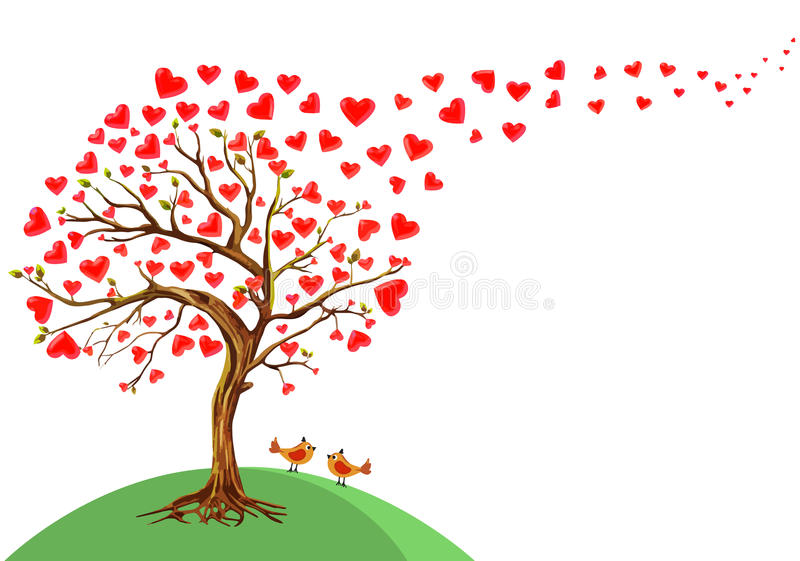 Vektorillustration des Baums der Herzen vektor abbildung
