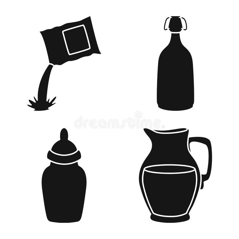 Vektorillustration des Bestandteiles und der organischen Ikone Sammlung der Bestandteil- und Molkereivorratvektorillustration vektor abbildung