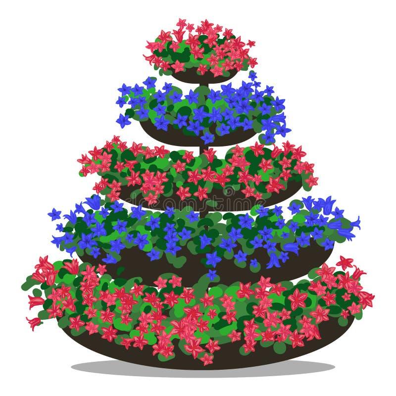 Vektorillustration des Blumengestecks vektor abbildung