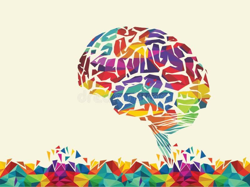 Vektorillustration des bunten Gehirns lizenzfreie abbildung