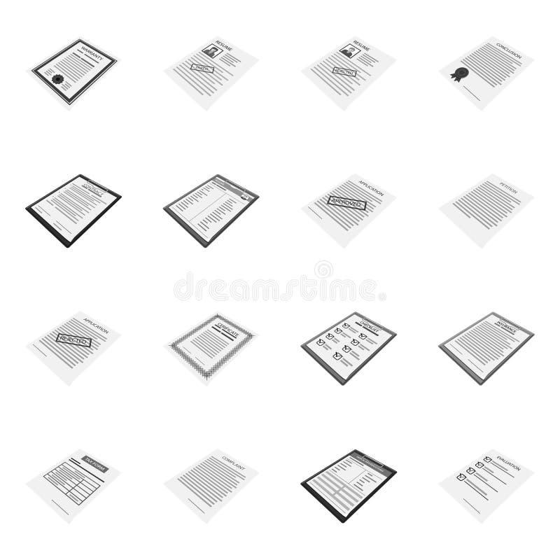 Vektorillustration des Druck- und Bürozeichens Stellen Sie vom Druck ein und annoncieren Sie Vektorillustration auf Lager lizenzfreie abbildung