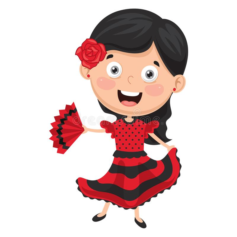 Vektorillustration des Flamencotänzers stock abbildung