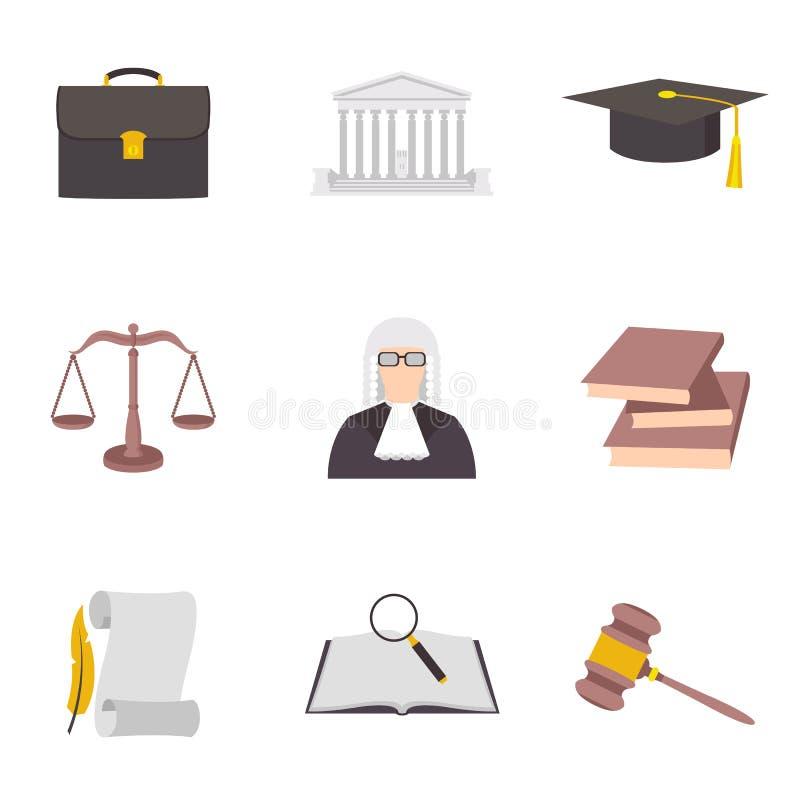 Vektorillustration des Gesetzesikonen-Farbsymbols lizenzfreie abbildung