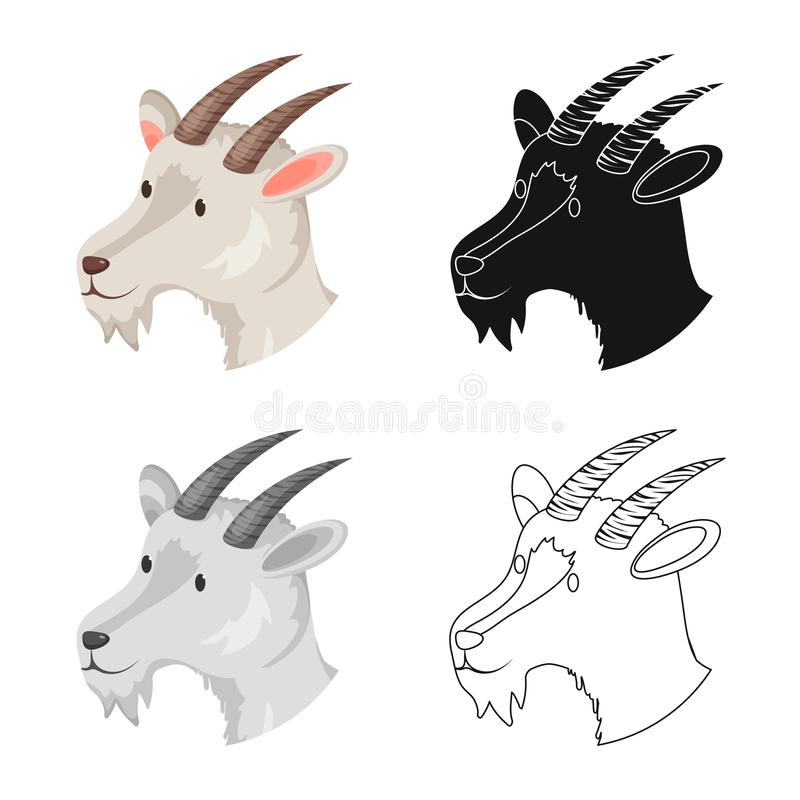 Vektorillustration des Hunde- und Gesichtszeichens Stellen Sie vom Hunde- und Welpenaktiensymbol für Netz ein vektor abbildung