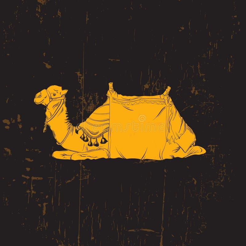 Vektorillustration des Kamels stock abbildung