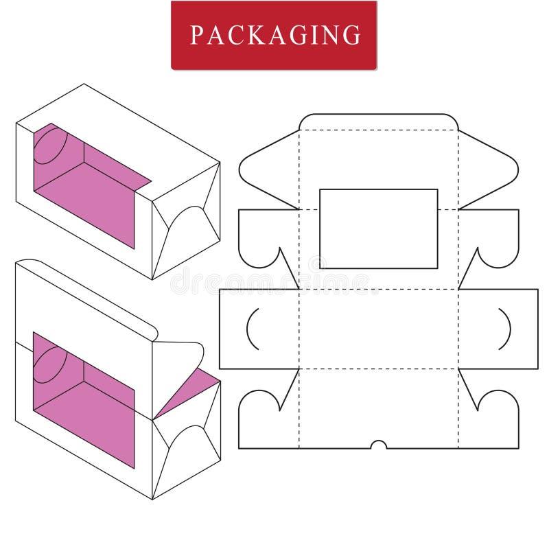Vektorillustration des Kastens Paketschablone vektor abbildung