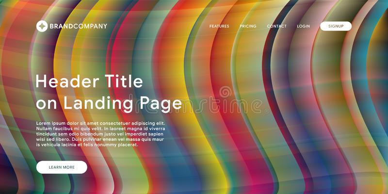 Vektorillustration des kreativen Entwurfs mit flüssigen bunten Formen Modische Farbsteigungen Streifendesign Flüssigkeit formt Zu lizenzfreie abbildung