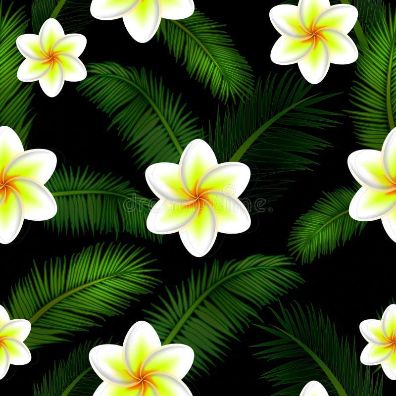 Vektorillustration des nahtlosen mit Blumenmusters stock abbildung