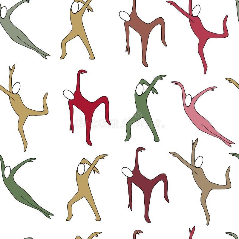 Vektorillustration des tanzenden Mannmusters vektor abbildung