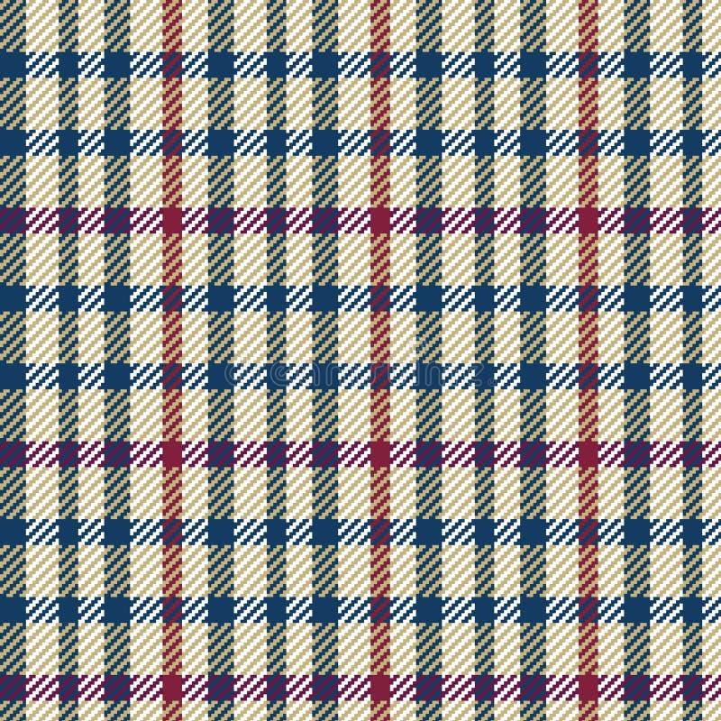 Vektorillustration des Tweed- oder Schottenstoffkontrollgewebes mit nahtlosem Wiederholungshintergrundmuster lizenzfreie abbildung