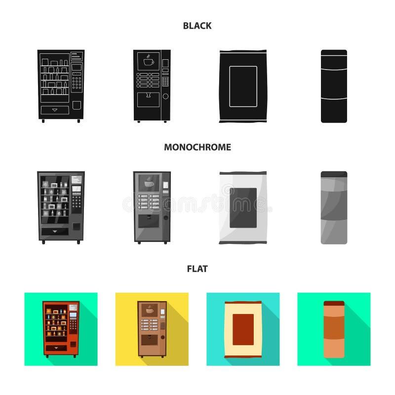 Vektorillustration des Verkaufs- und Industriesymbols Sammlung des Verkaufs und des Zusammenstellungsaktiensymbols für Netz stock abbildung