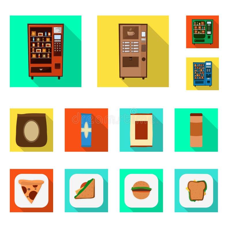 Vektorillustration des Verkaufs- und Industriesymbols Sammlung des Verkaufs und des Zusammenstellungsaktiensymbols für Netz vektor abbildung