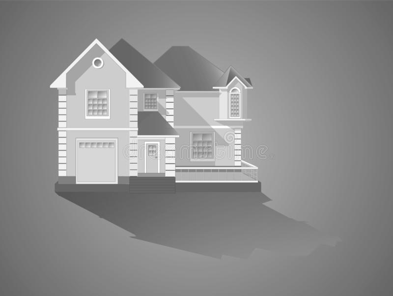 Vektorillustration - die Fassade vektor abbildung