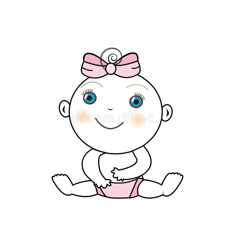 Vektorillustration eines Babys stockbild