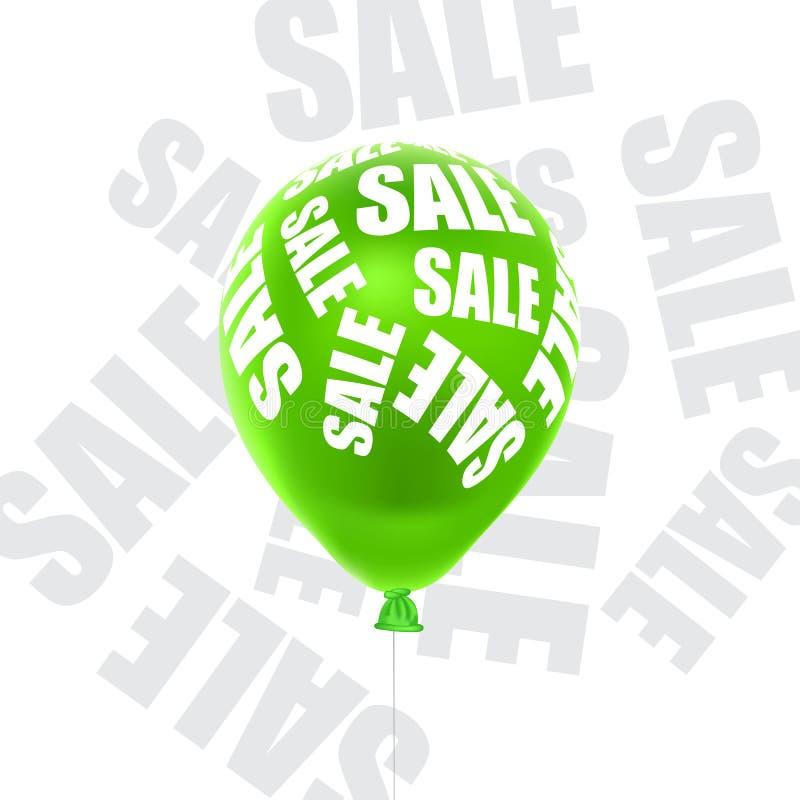 Vektorillustration eines Ballonverkaufs lizenzfreie stockfotos