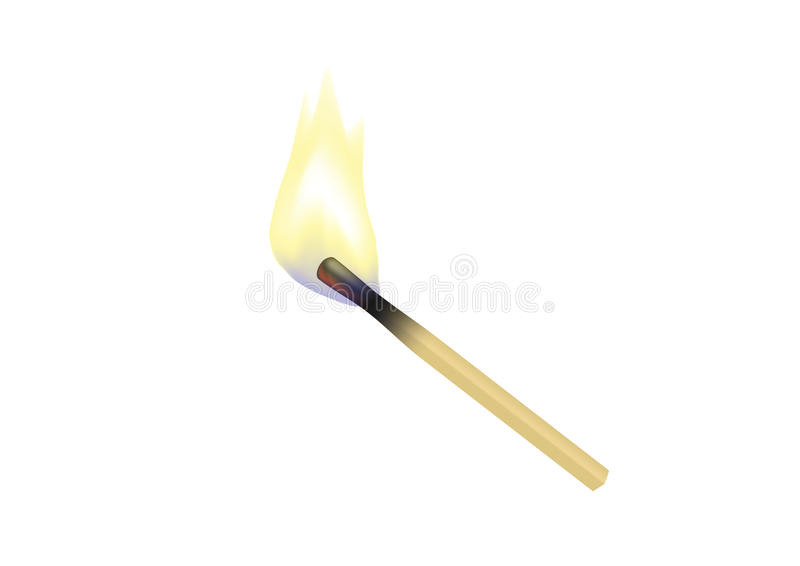 Brennendes Match stock abbildung
