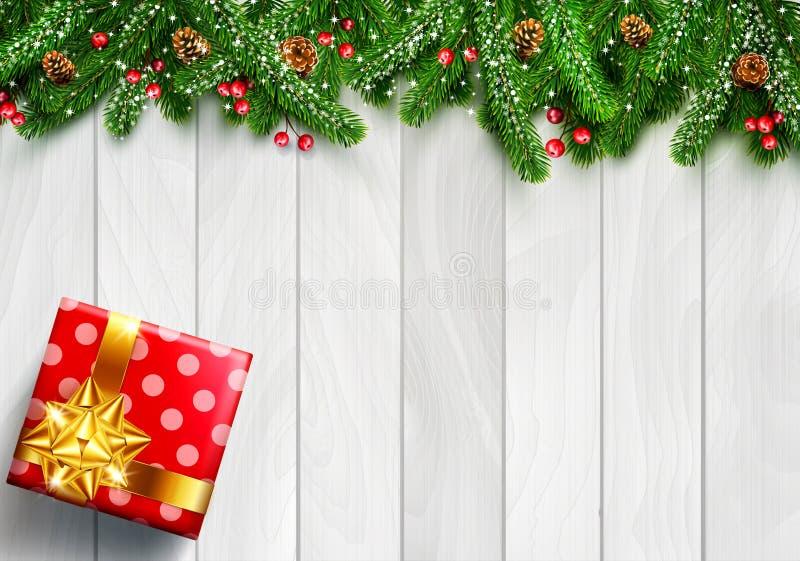 vektorillustration för glad jul och lyckligt nytt år Gre vektor illustrationer