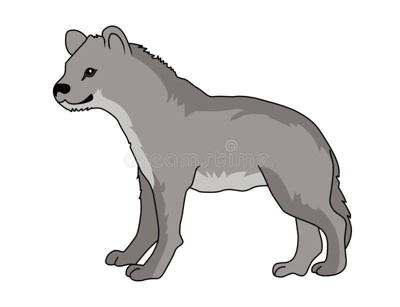 Vektorillustration för prickig hyena Bild för hyenavektormateriel royaltyfri illustrationer