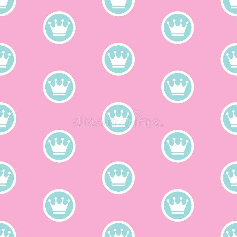 Vektorillustration för prinsessa Seamless Pattern Background vektor illustrationer