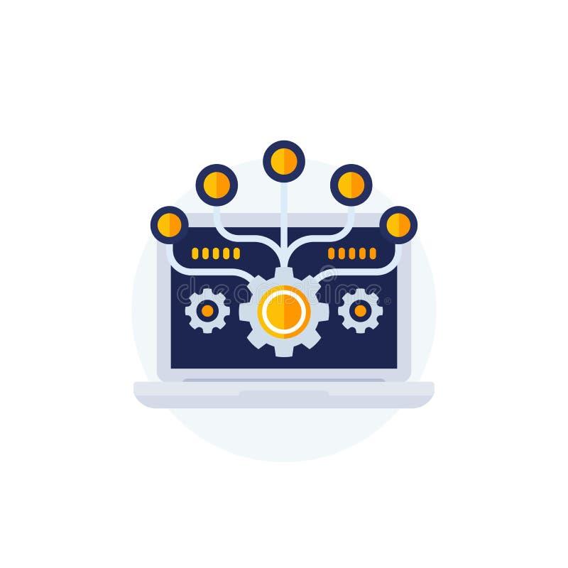Vektorillustration för programvaruintegrering royaltyfri illustrationer