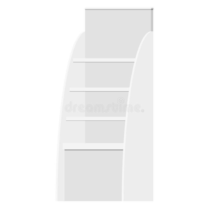 Vektorillustration fördernden Acrylschaukastenwaren-Ausstellungsstandes des im Freien lizenzfreie abbildung