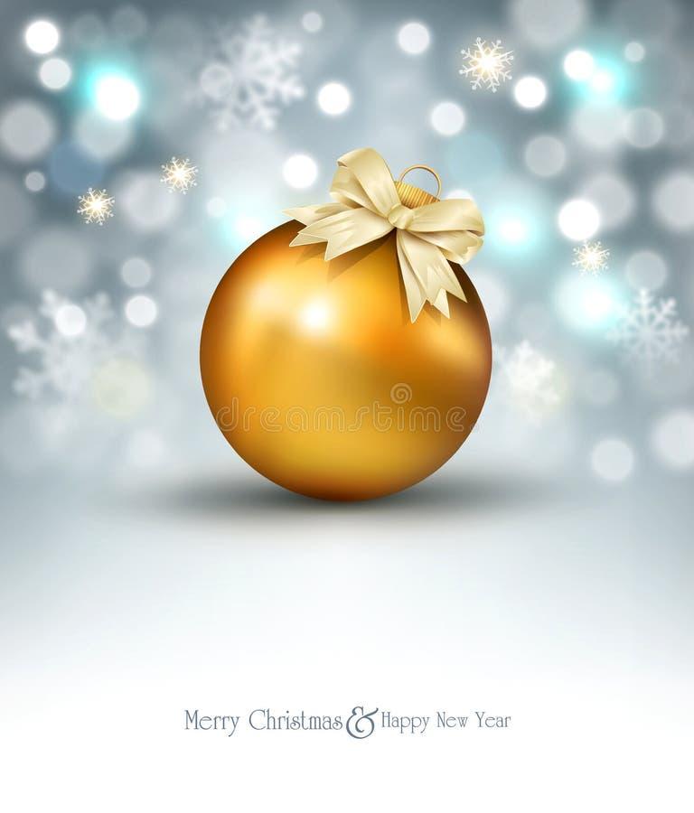 Vektorillustration für frohe Weihnachten und guten Rutsch ins Neue Jahr Gre lizenzfreie abbildung