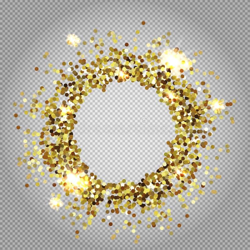 Vektorillustration für goldenen Schimmerhintergrund vektor abbildung