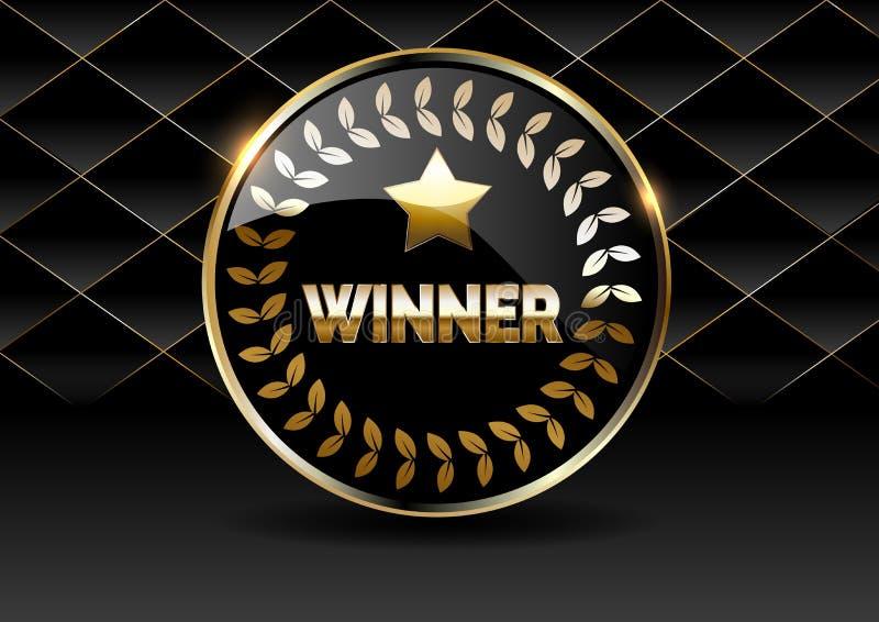 Vektorillustration f?r vinnare av poker, kort, rouletten och lotterit stock illustrationer