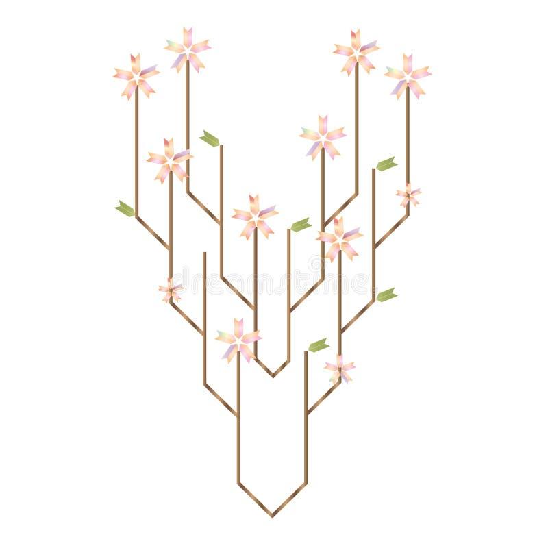 Vektorillustration futuristischen Baum Technologie und der Naturinteraktionsmetapher lizenzfreie abbildung