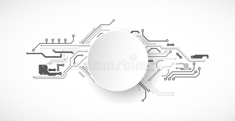 Vektorillustration, högteknologisk digital teknologi och teknik vektor illustrationer