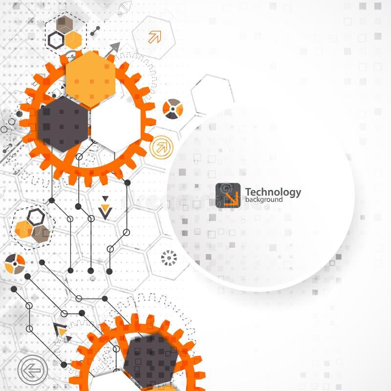 Vektorillustration, högteknologisk digital teknologi och teknik, vektor illustrationer