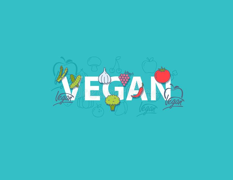 Vektorillustration, Lebensmitteldesign Handgeschriebene Beschriftung für Restaurant, Cafémenü Vector Elemente für Aufkleber, Logo vektor abbildung