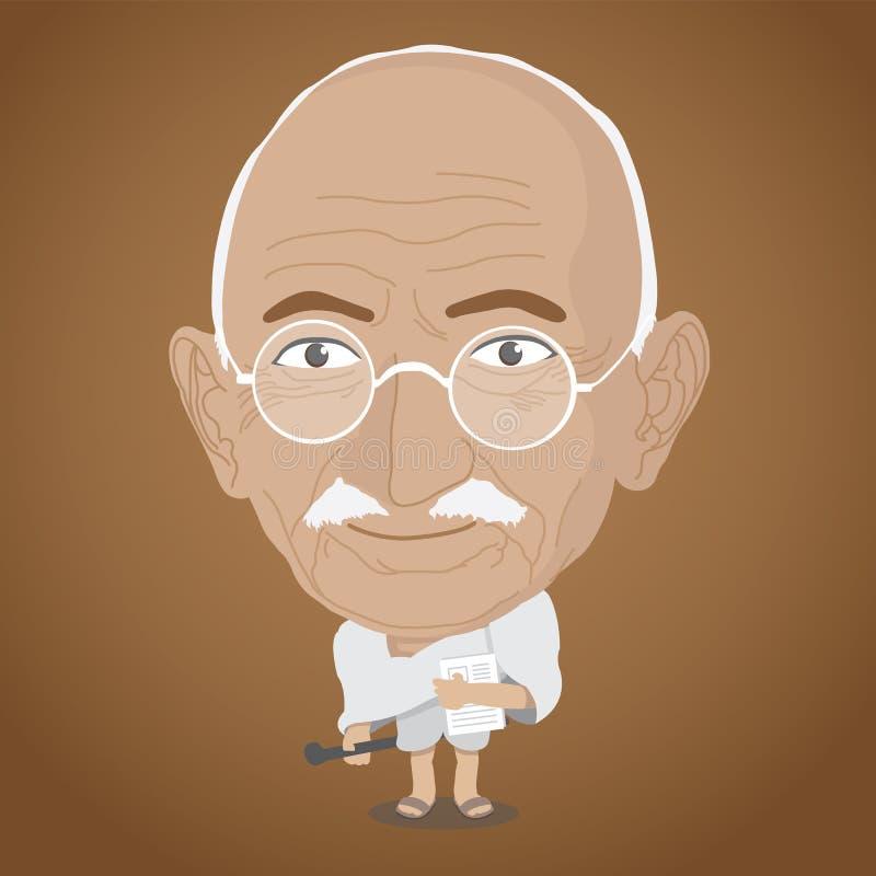 Vektorillustration - Mahatma Gandhi lizenzfreies stockfoto