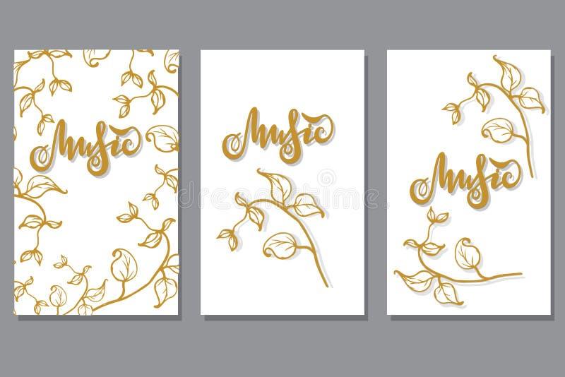 Vektorillustration med beståndsdelar av färger för inbjudankort, baner, förpackande design stock illustrationer