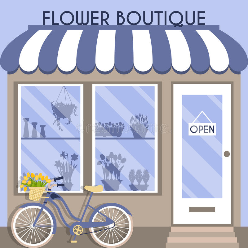 Vektorillustration med boutique stock illustrationer