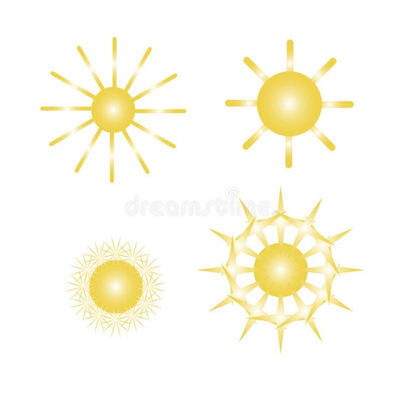 Vektorillustration mit Sonnen stock abbildung