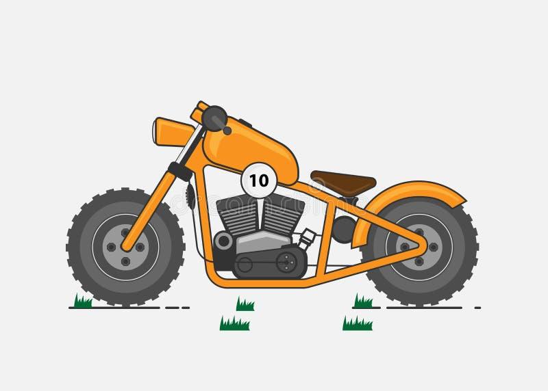 Vektorillustration, motorcykel på vit bakgrund vektor illustrationer