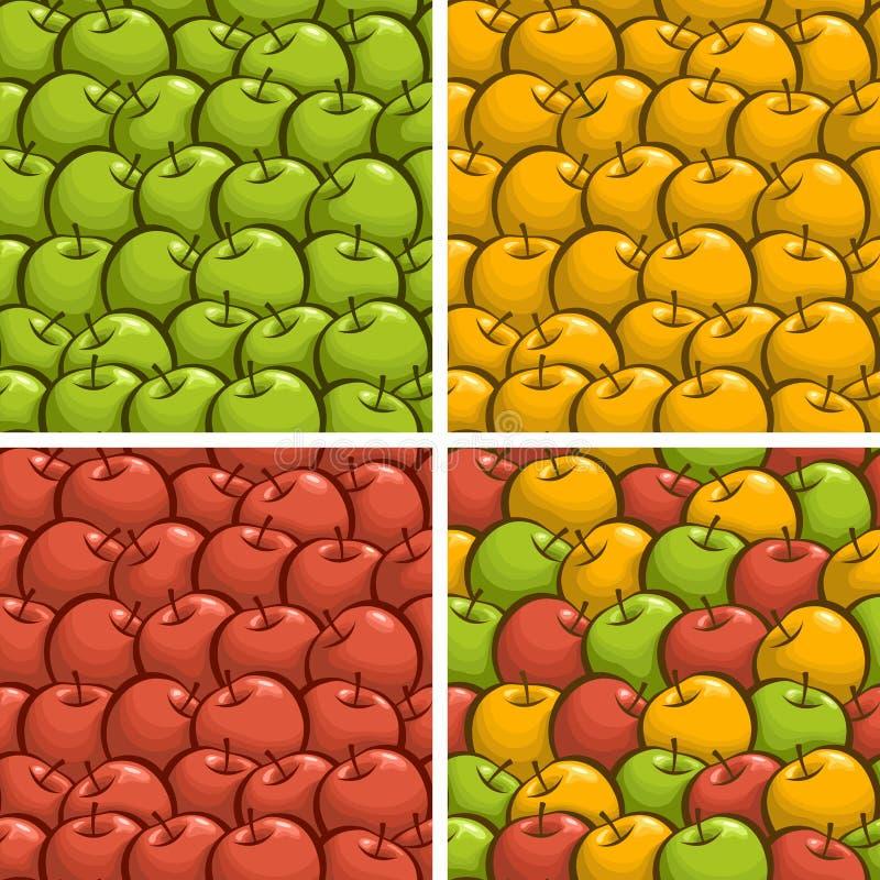 Vektorillustration på temat av äpplebakgrund stock illustrationer
