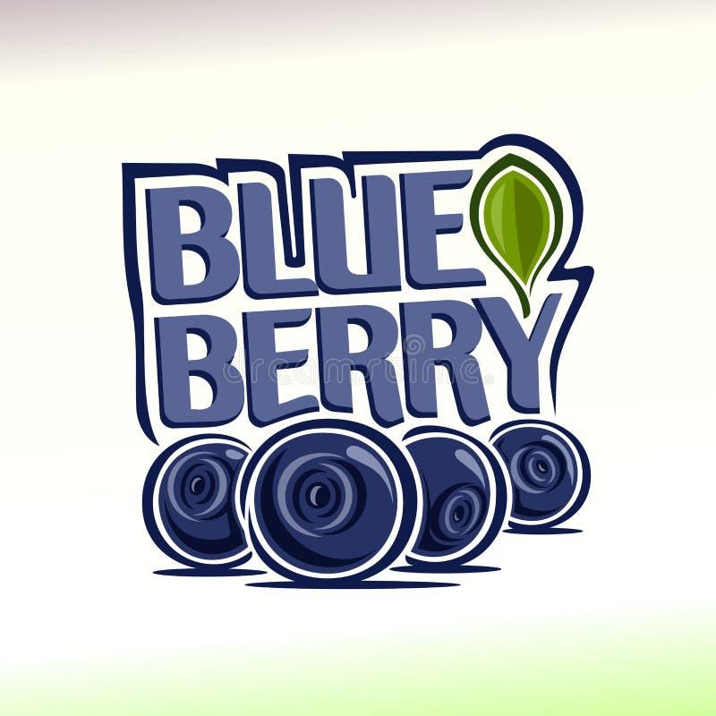 Vektorillustration på temat av blåbäret stock illustrationer