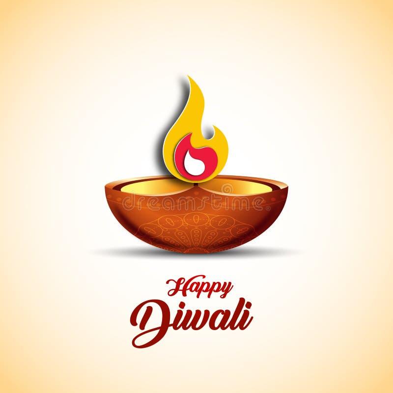 Vektorillustration på temat av den traditionella berömmen av Diwali royaltyfri illustrationer